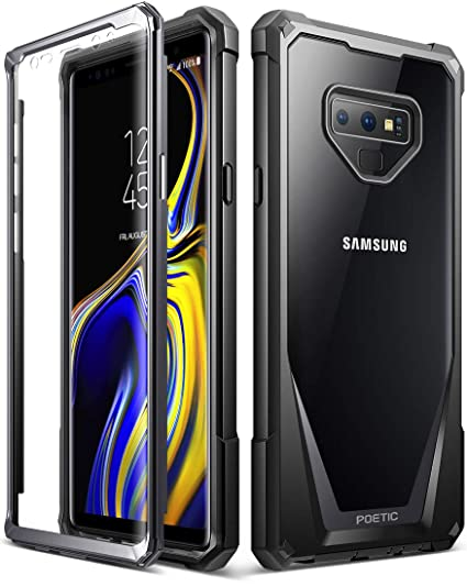 separation shoes 22201 9684e Galaxy Note 9 Case, Poetic Guardian [Scratch Resistant Back] [360 Degree  Protection] Full-Body Rugged Clear Hybrid Bumper Case with Built-in-Screen  ...