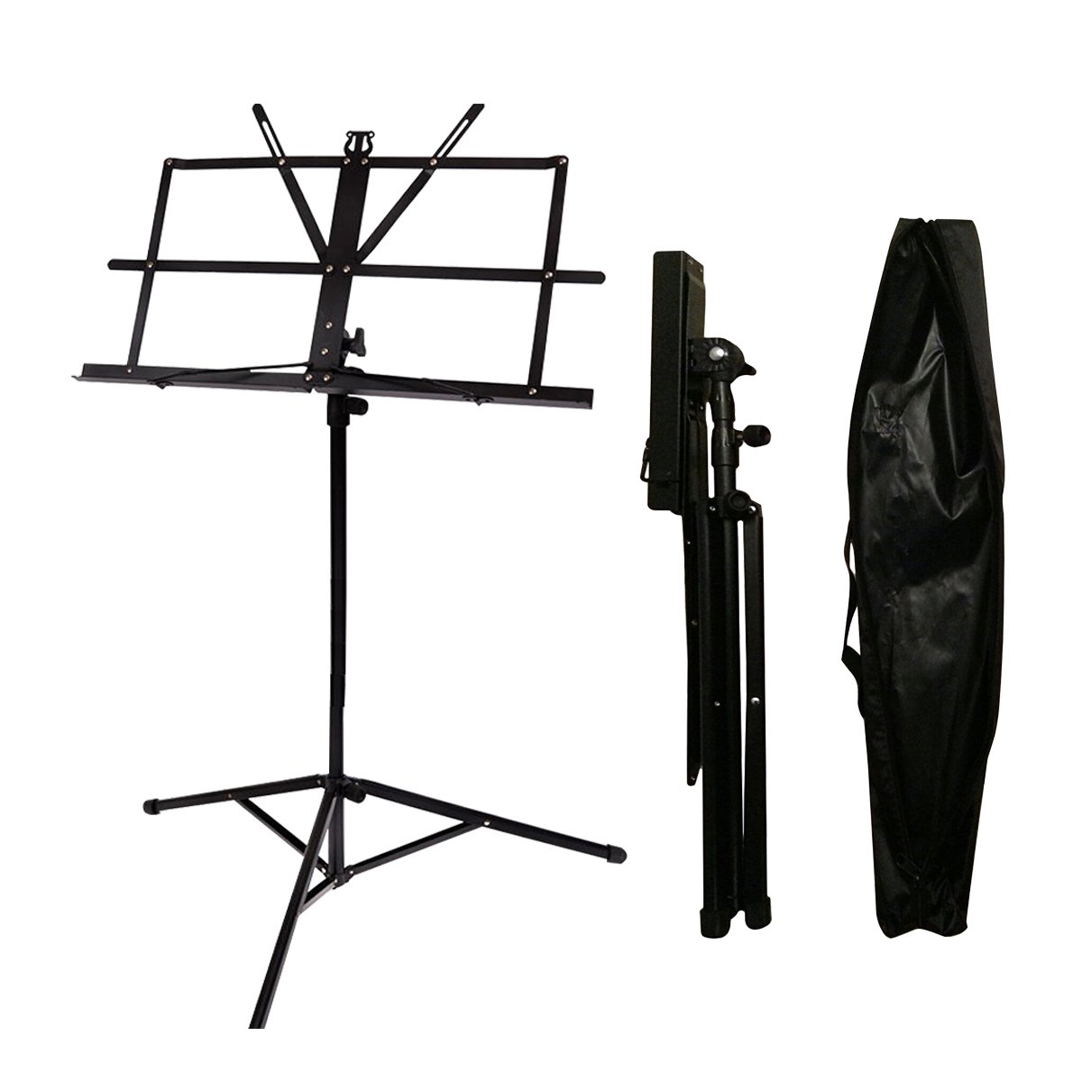 Music Stand Audo Folding Music Stand With Music Book Clip And Carry Bag Black (1Pack) by Audo (Image #5)