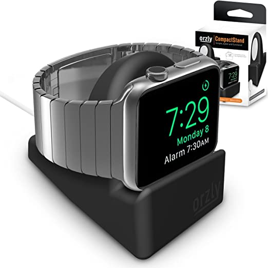 352 opinioni per Orzly® Night-Stand for Apple Watch- NERO Supporto con Scanalatura per nascondere