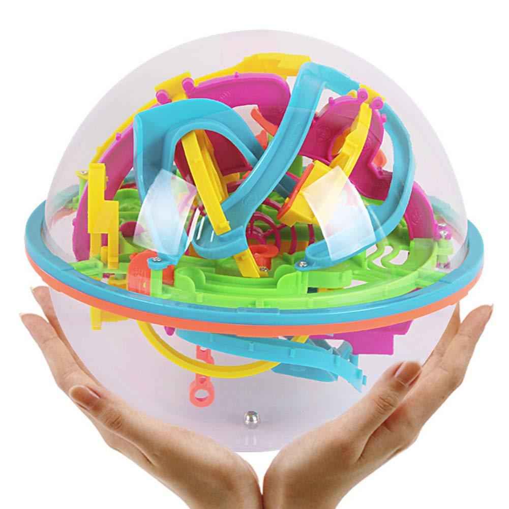 Gcroet 1pc Labyrinthe 3D Balle Jouet Marble Run Puzzle Ball Intelligence Teasers Jouet Cerveau Assembl/éE 3D Maze Bloc Sph/èRe pour Adultes Enfants