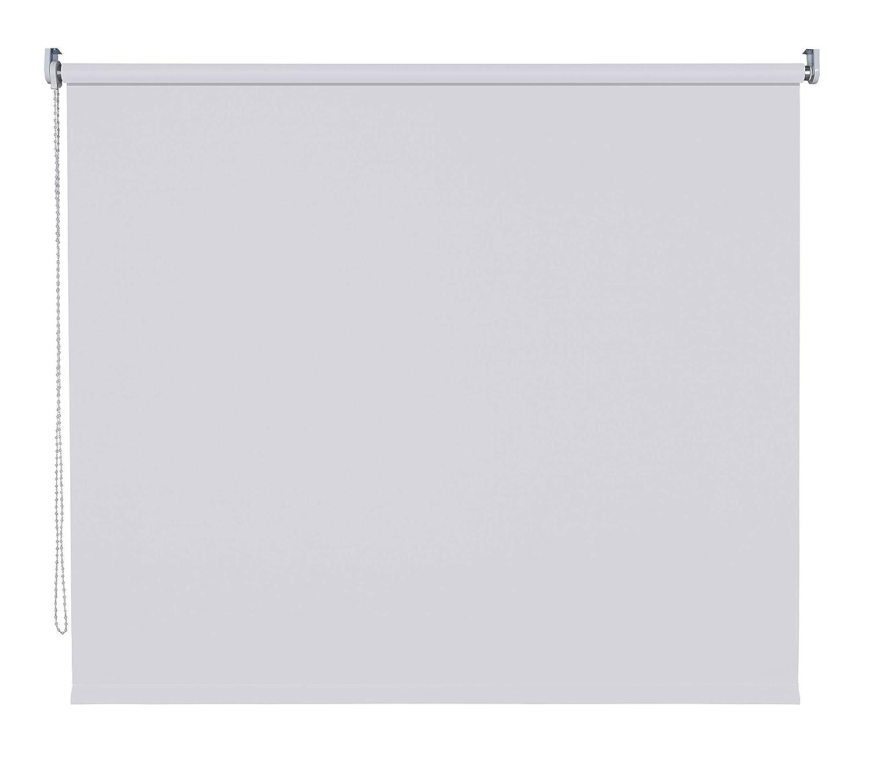 Verdunklungsrollo Fenster Tür Rollo Farbwahl Kettenzugrollo Seitenzugrollo Breite 60 - 200 cm Höhe 180 cm u. 240 cm Stoff lichtundurchlässig Metall Klemmhalter ohne Bohren (110 x 180 cm   Hellgrau)