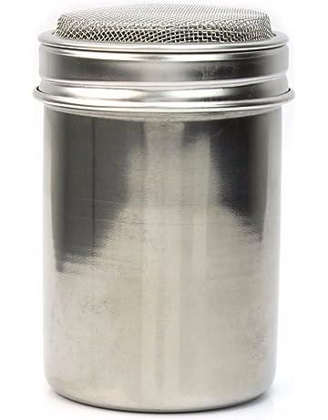 Tamiz de Acero Inoxidable Salero Pimentero Agitador para Sal Café Azúcar Colador