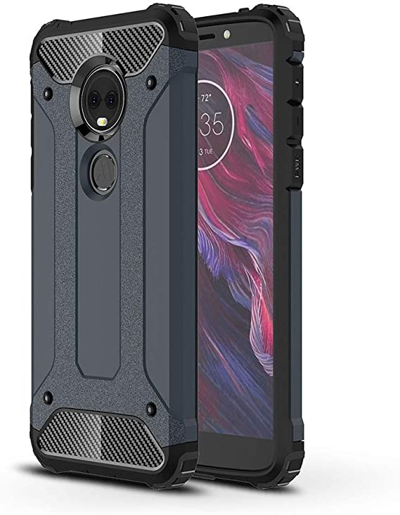 DEVMO Phone Case Compatible with Motorola Moto G6 Plus Hard Plastic Shell Case//Shockproof Hard Bumper//Protective Cover Black