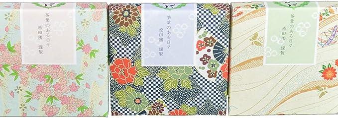 原田園 プチギフト 緑茶 ティーバッグ 2g×5個入り 和風柄 3箱セット