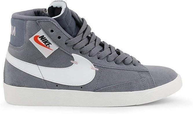 Nike Blazer MID Rebel BQ4022-004 - Chaqueta para mujer, color gris, blanco  y gris oscuro
