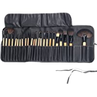 Set profesional de brochas para maquillaje 24 piezas Madera