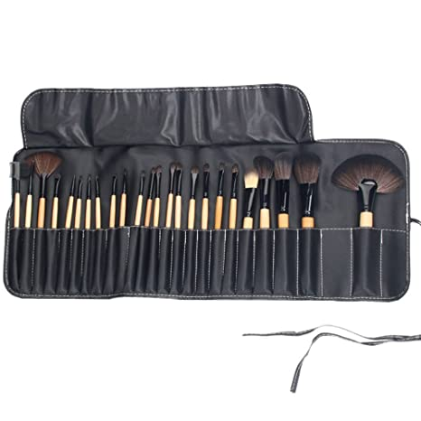 Professional Makeup Brushes Set - 24 Pc High Quality Cosmetic Make up - Beauty Blending for & Cream