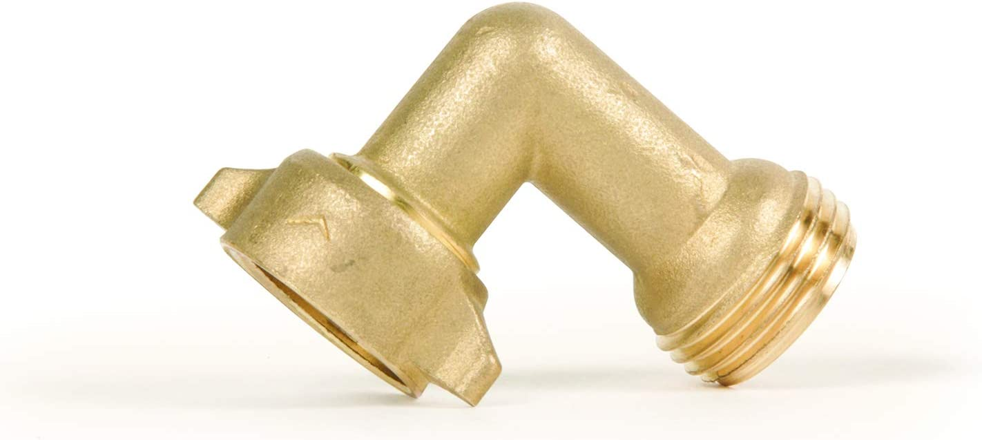 Camco (22505) 90 Degree Hose Elbow- Eliminates Stress and Strain On RV Water Intake Hose Fittings, Solid Brass: Automotive