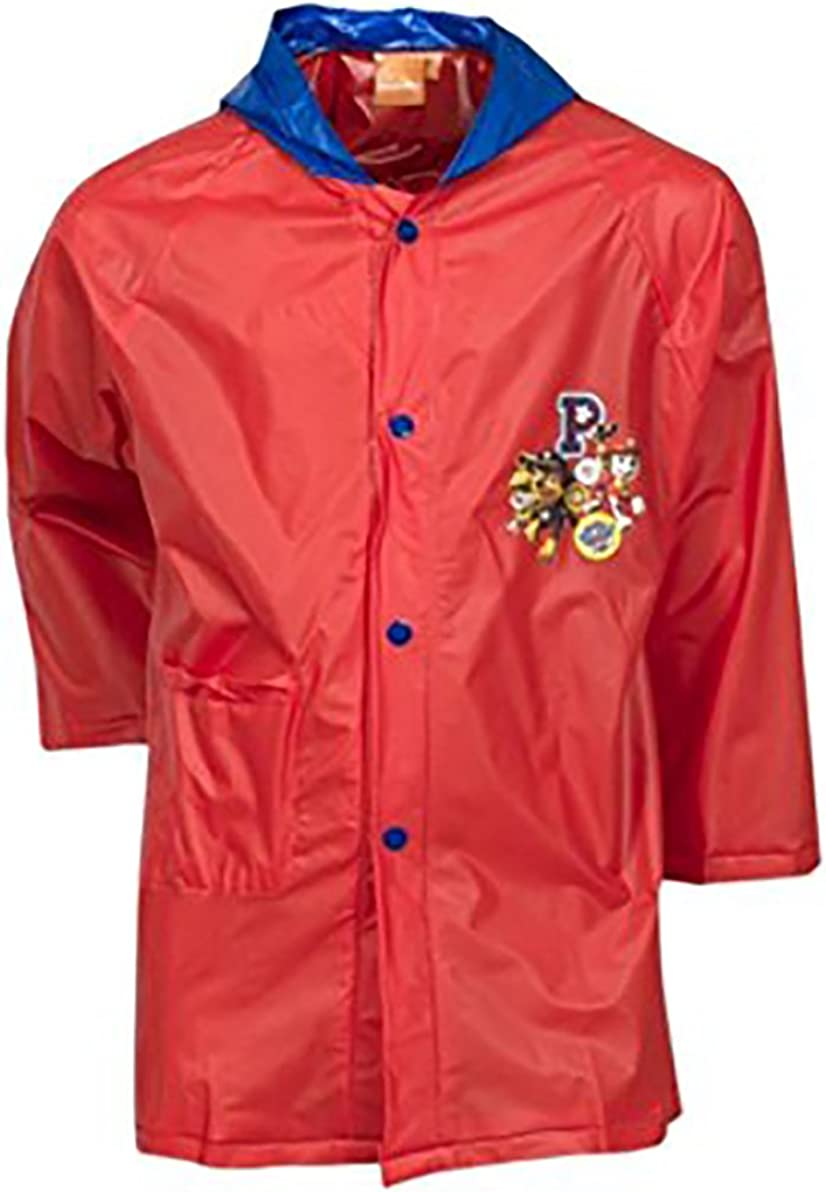 SMG Nickelodeon Official Paw Patrol Character Boys PVC Hooded Jacket Raincoat