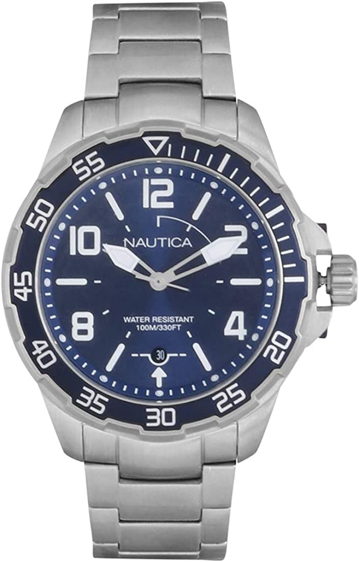 Nautica Men s Quartz Resin Silicone Watch