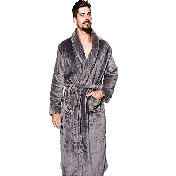 Image Unavailable. Image not available for. Colour  Olivia s Stylism  Boutique Unisex Bathrobe Flannel ... bb30171d6