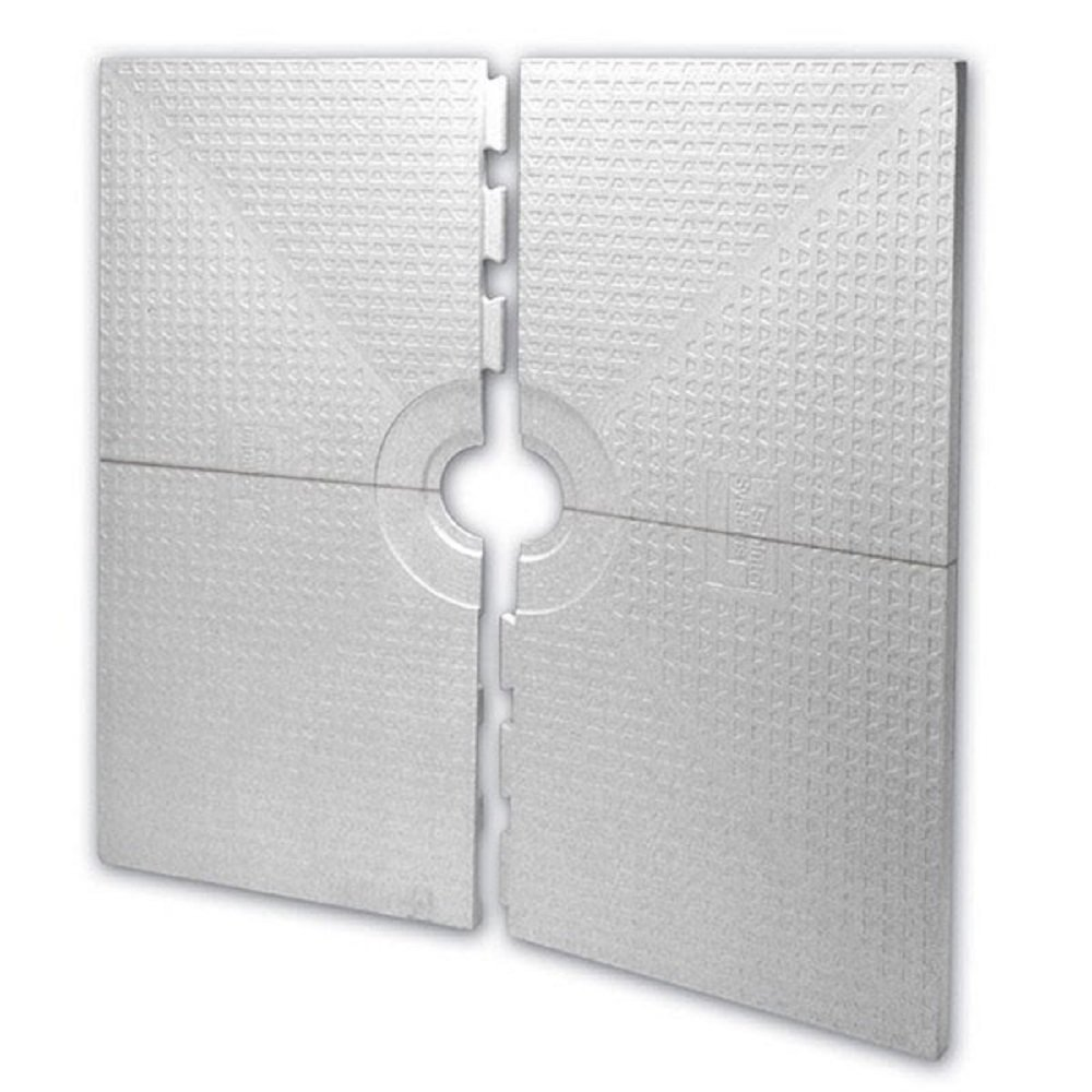 Schluter KERDI-SHOWER-ST - 48 x 48 - Shower Tray - Center Drain Placement - 1-1/2 Perimeter Height ST-122