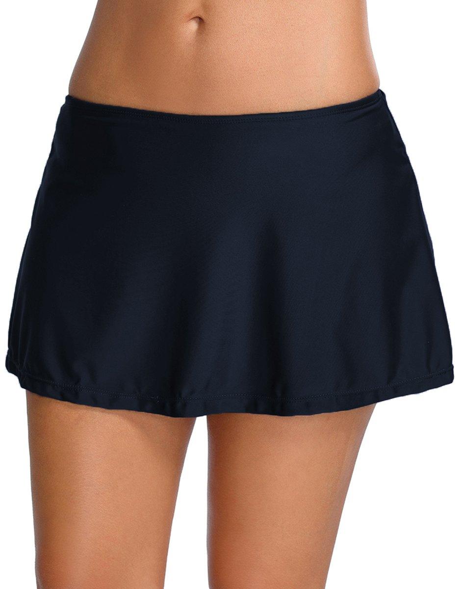 Bettydom Donna Skirt Solido Nero femminile gonna Bikini vestito nuotata Parte inferiore pantaloni