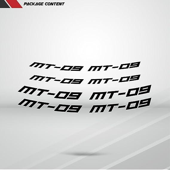 Stickman Vinyls Glänzend Orange Motorrad Inner Rim Tape Decal Aufkleber Kompatibel Mit Yamaha Mt09 Auto