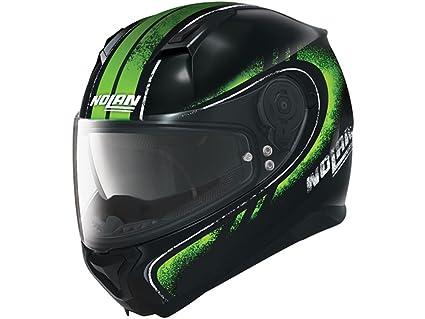 Nolan N87 Fulgor Integral Casco Moto policarbonato N- Com – Metal Negro Verde Tamaño 2