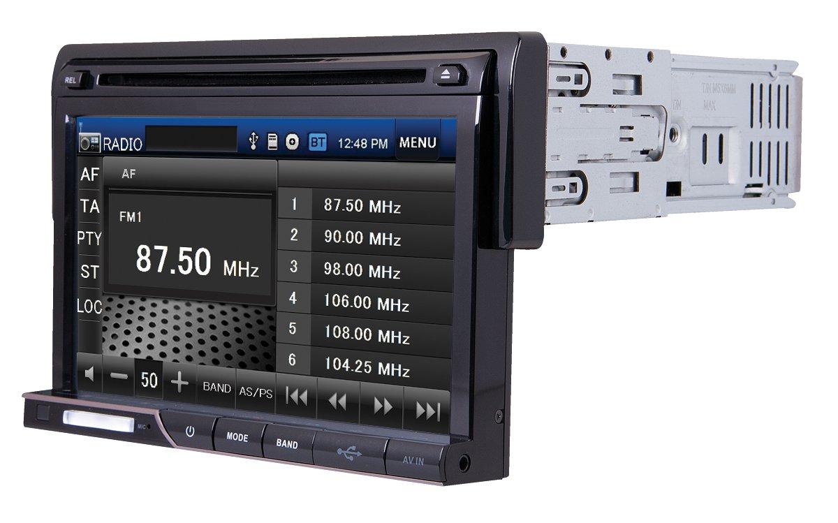Farenheit TI-710B 1-DIN Multi Media Source Unit with Detachable 7 LCD//Bluetooth