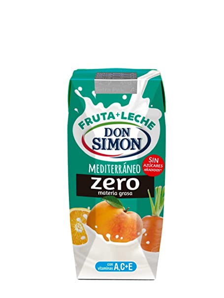 Don Simon Leche Desnatada y Zumo de Naranja, Uva, Melocotón y Zanahoria - Paquete