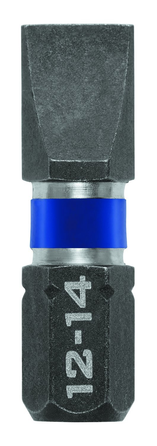 2-Pack 6-8 Slotted IRWIN Tools 1899804 Impact Performance Series Screwdriver Power Bits 2-Inch Length