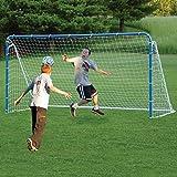 EZGoal 6-in-1 Multi-Sport Folding Tilting Backstop/Goal, Blue (soccer, baseball,golf, lacrosse, hockey, tennis)
