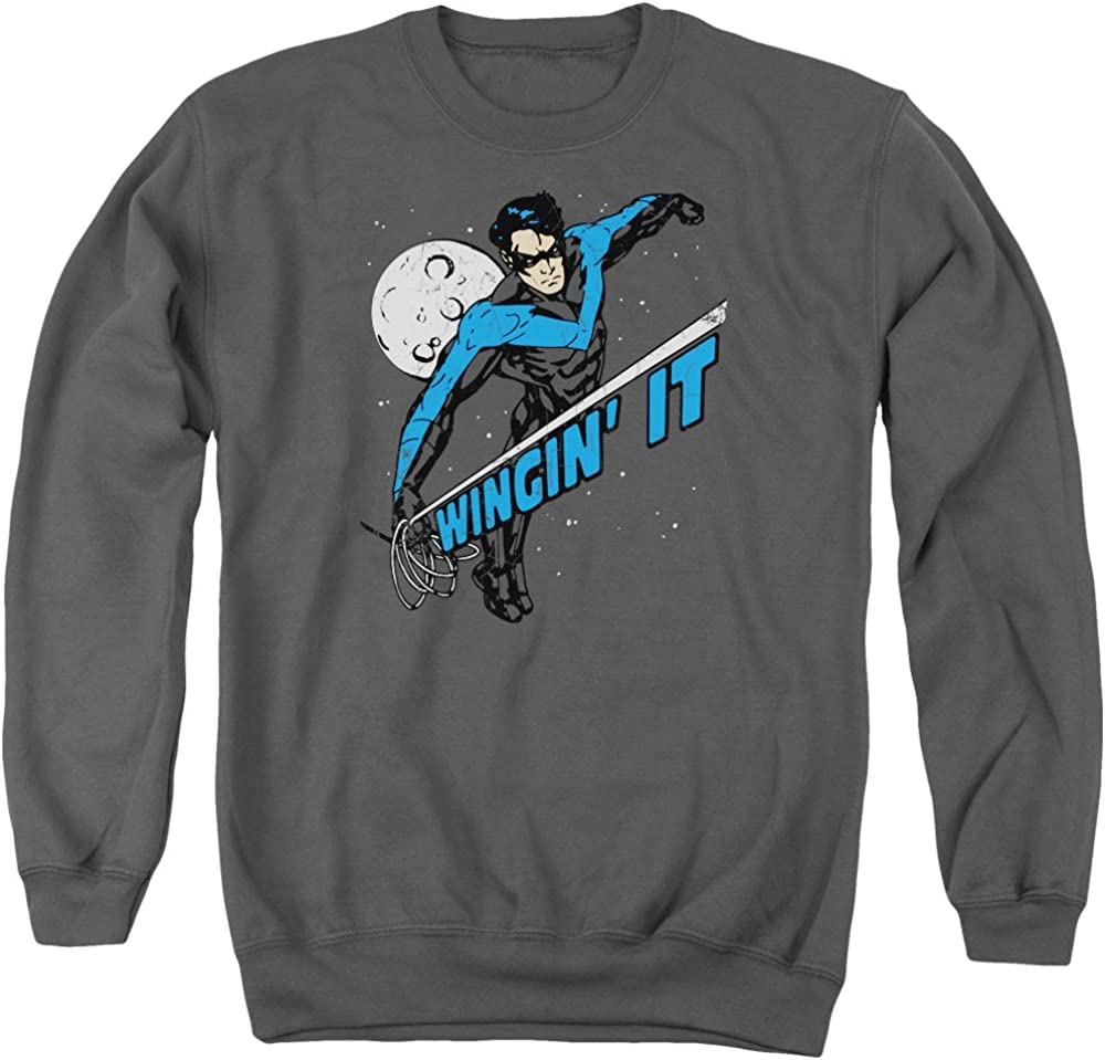 Wingman Adult Crewneck Sweatshirt Batman