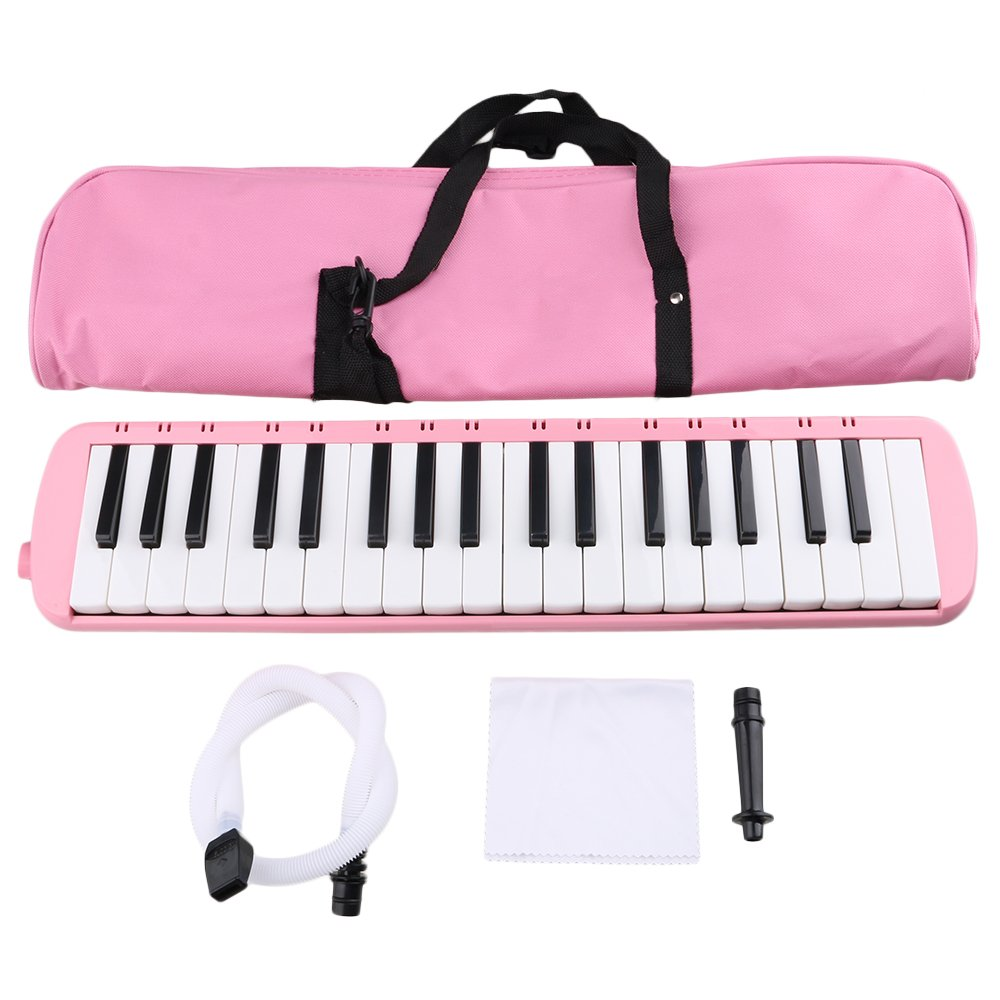 BQLZR Pink Portable 37 Note Piano Keys Melodica with Carrying Bag for Beginners Musical Fans by BQLZR