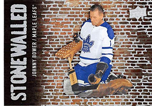 2018-19 Upper Deck Stonewalled Hockey Card #SW-46 Johnny Bower Toronto Maple Leafs Official UD Trading Card