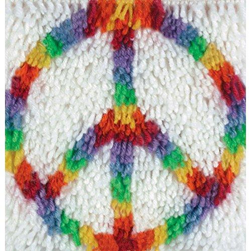 Wonderart Peace Latch Hook Kit, 8