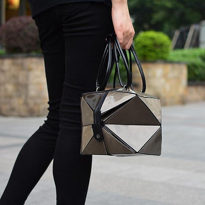 Aoligei Variable de sac à main centaines losange géométrique pliage unique grand sac mode déformation femmes sac kXJRr