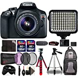 Canon EOS Rebel T6 Digital SLR with 18-55mm IS II Lens , 120 LED Light and Top Accessory Bundle