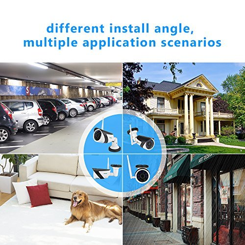 Outdoor Security Camera,1/4''CMOS WIFi Camera Outdoor,720P Wireless IP Camera with IR Night Vision,Surveillance Video Camera with Motion Detection,IP66 Waterproof Bullet Camera for indoor&outdoor,4sdot