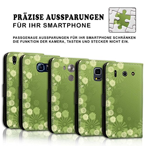 Wallet Book Style Flip Handy Tasche Case Schutz Hülle Schale Motiv Etui für Apple iPhone 6 / 6S - Design Flip MV170