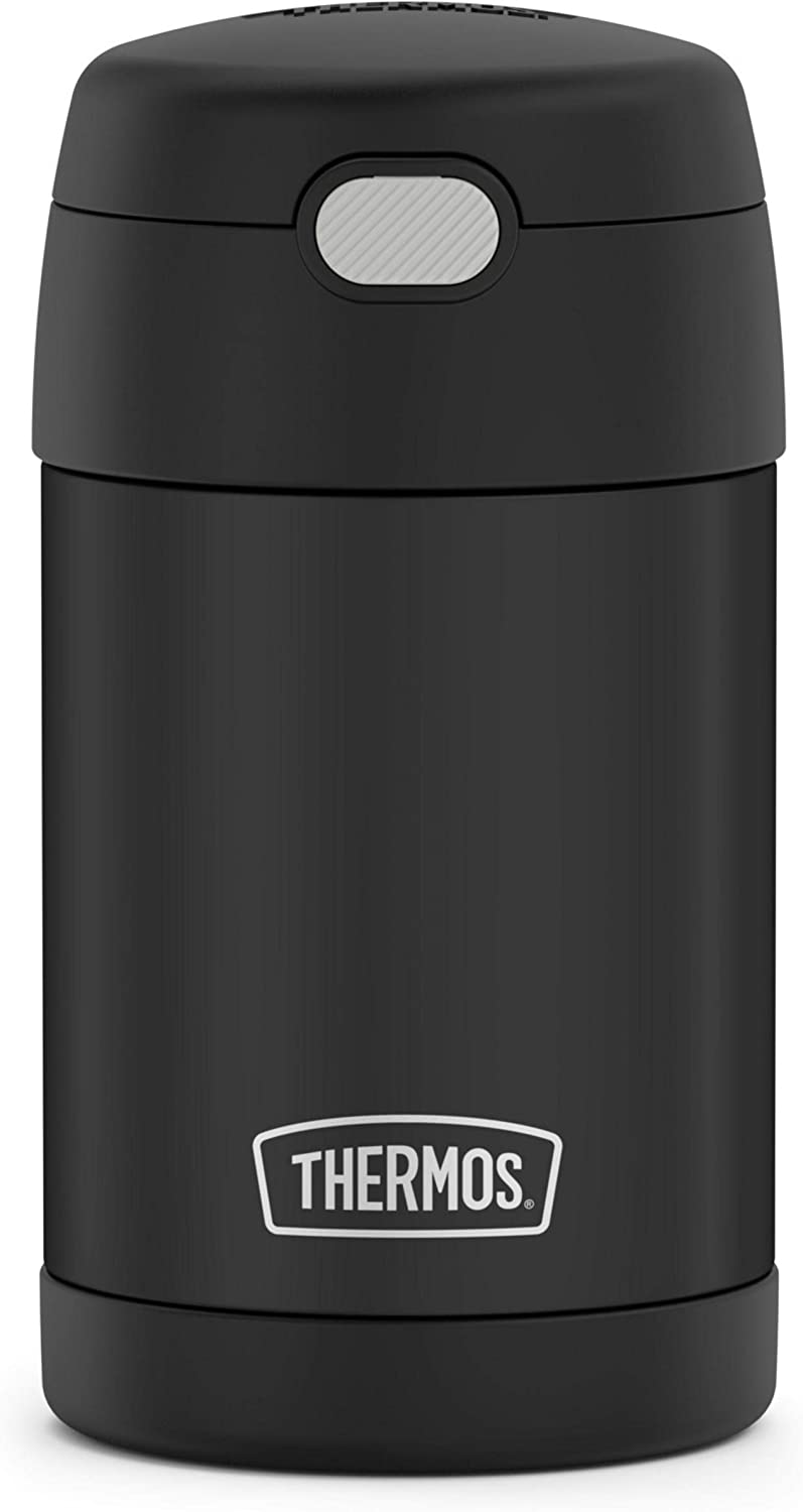 Thermos Funtainer 16 Ounce Food Jar, Black Matte