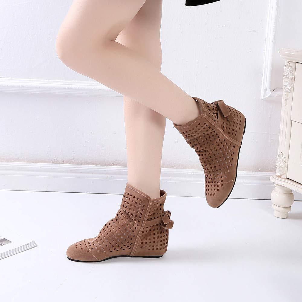 Longra ♬♬♬ ✈✈✈ Botas de última Moda Botas Ocultas Planas Bajas Botas de Tobillo Zapatos Casuales Botines Lindos Botines de Mujer