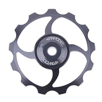 Starnearby 13 Tooth MTB - Polea de cerámica para bicicleta de carretera, guía de desviador