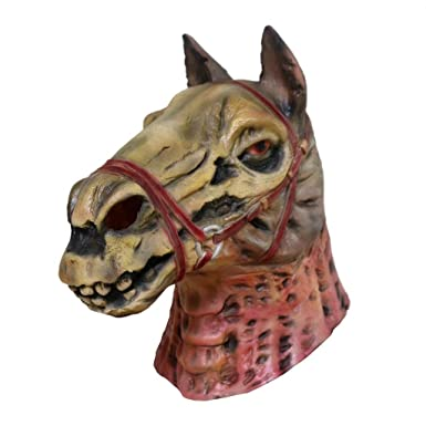 Amazon.com: Máscara de cabeza de caballo de calavera, para ...