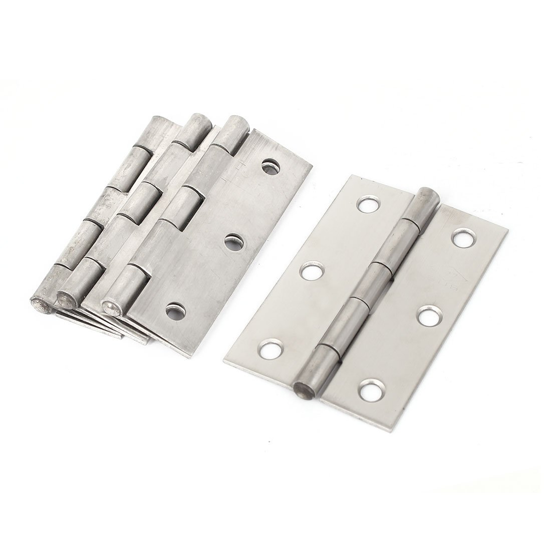 uxcell Cabinet Gate Closet Door 3-inch Long Stainless Steel Butt Hinge 4pcs