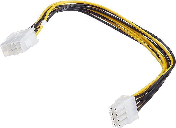 Premium Cord - Cable alargador para PC (8 Pines, Macho a Hembra, 0,28 m)