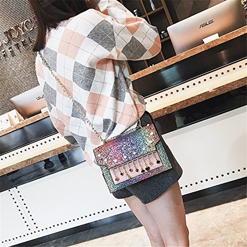 Chaîne Shoulder Mode Slung Paillettes Portable Occasionnels Girl FangYOU1314 Poche 7WP1fEzP