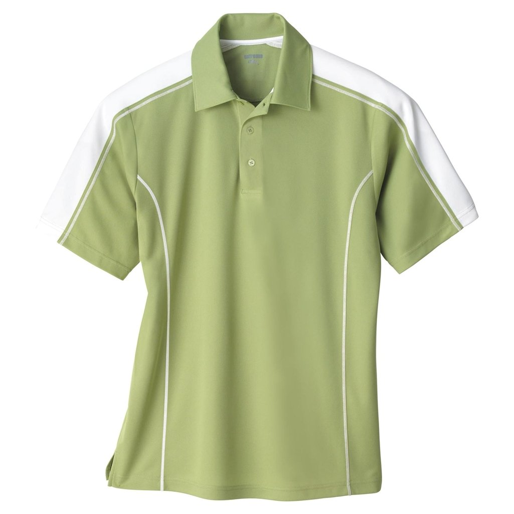 Ash City Mens Eperformance Extreme Pique Color Block Polo Shirt (XXXXX-Large, Fairway Green/White) by Ash City Apparel