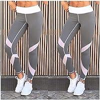 XuBa Push-up Leggings Women Skinny Elastic Patchwork Print Sporting Leggings Fitness Pants Push Up Workout Trousers