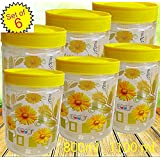 Saaz Air Tight Set of Six Multipurpose Flora Priented Kitchen Containers.