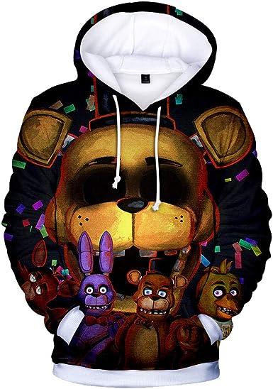 CTOOO Sweats à Capuche Imprimé Five Nights at Freddy Homme Ado XXS XXXL