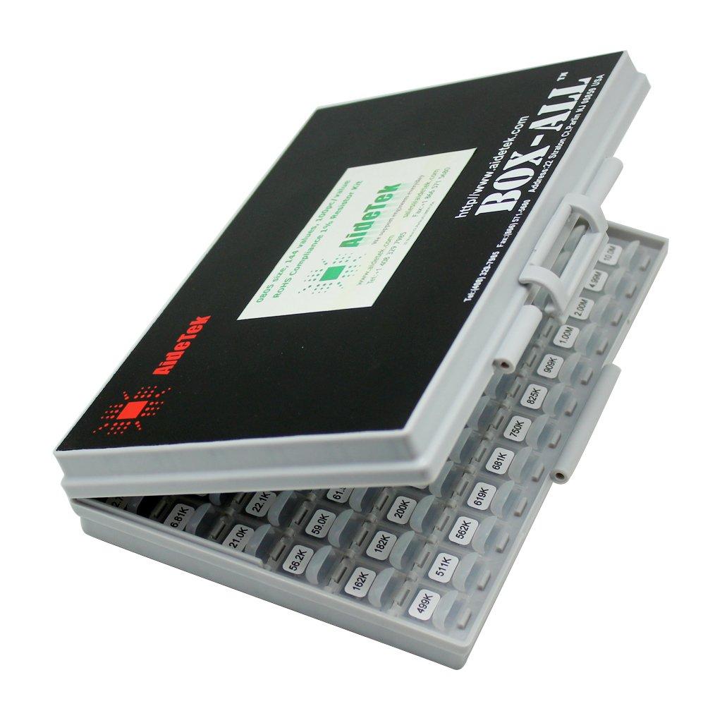 144/valores 100pc//valor 1/% muestras resistencia Kit distribuido en BOX-ALL enclosure E96/Serial ohmios a 1/MOhm funda Kit Marca nueva SMD 0603/SMT Tama/ño