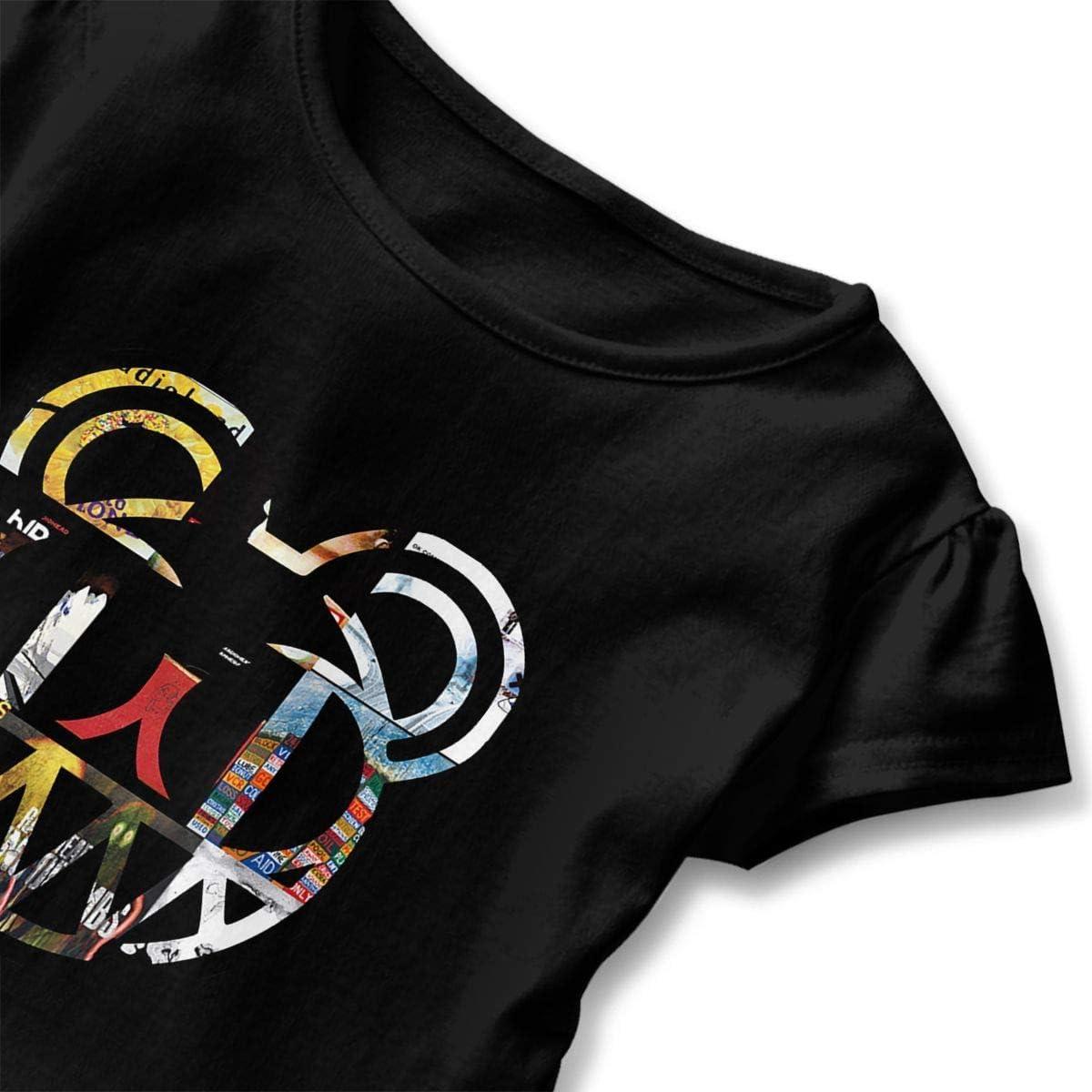 gregezrg Kid T Shirt MUtang Radiohead 3D Tee Baseball Ruffle Short Sleeve Cotton Shirts Top for Girls Kids