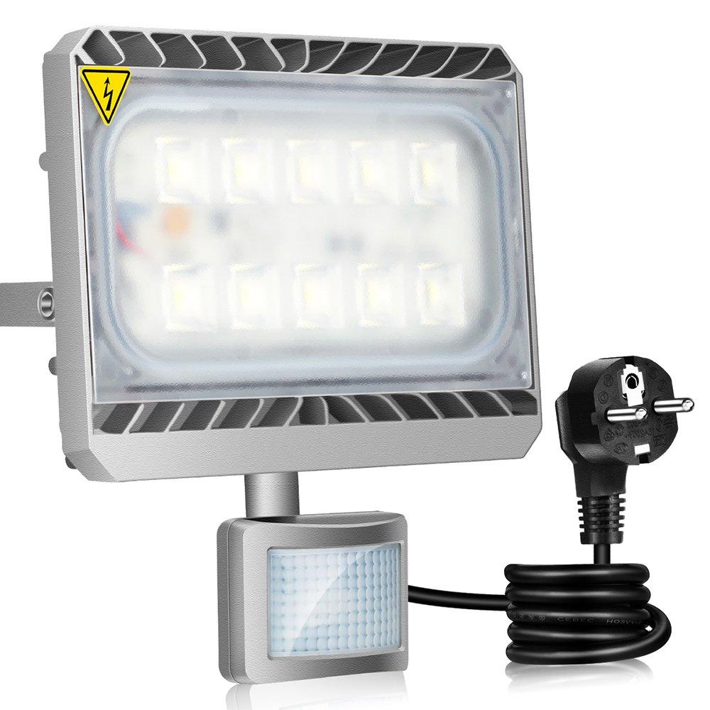 GOSUN® Super Hell 100W LED Fluter Außenstrahler 9000Lumen 230V IP65 ...