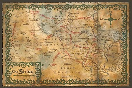 Map 61 x 91.5cm Poster NEW AND SEALED THE HOBBIT