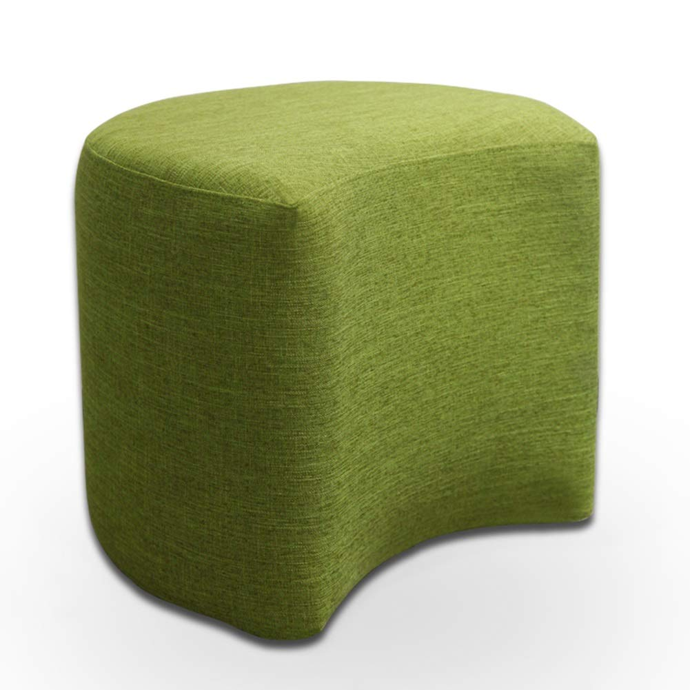 Green 4441cm Tingting-Stools, Solid Wood Bracket Living Room Sofa Bedroom Footrest Sitting Stool Leisure Fabric Short (color   Yellow 1, Size   44  41cm)