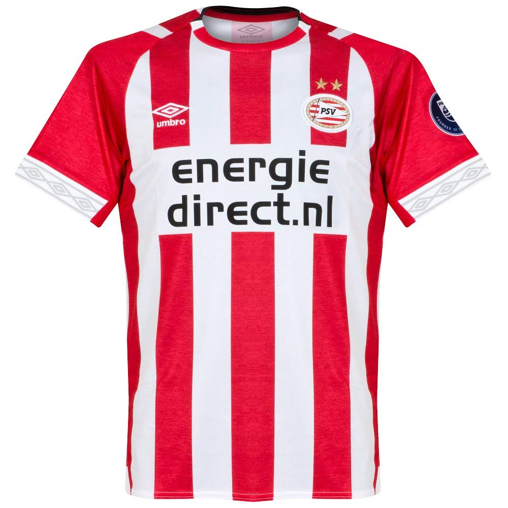 7005763af Amazon.com   Umbro 2018-2019 PSV Eindhoven Home Football Soccer T-Shirt  Jersey   Sports   Outdoors