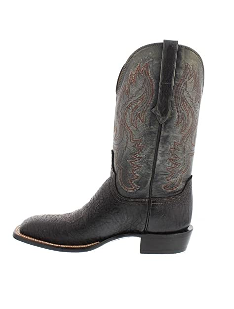 5dafd63d480 Lucchese CL1512 Mens Black Sage American Bison Leather Western ...