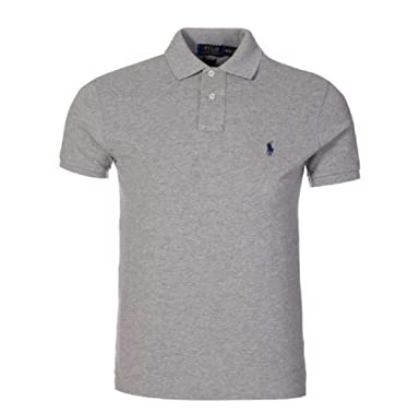 Ralph Lauren Men s Polo Shirt Slim Custom Fit White  Amazon.fr  Vêtements  et accessoires 2763e05523f